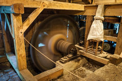 Wooden mill inside Royalty Free Stock Image