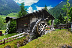 Wooden mill Stock Image