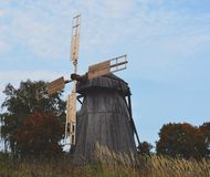 Wooden mill. Old Russian wooden mill Royalty Free Stock Image