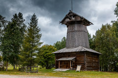 Wooden mill. Old russian north wooden mill near Arkchangelsk Stock Photography