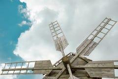 Wooden mill in outdoor ukrainian national falk historical village Stock Photo