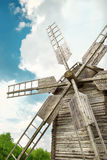 Wooden mill in outdoor ukrainian national falk historical village Royalty Free Stock Photography