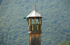 Wooden Minaret in Jajce Stock Photos