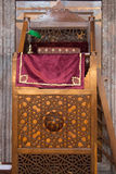Wooden minbar, sermon pulpit of Ottoman times Stock Photography