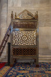 Wooden minbar, sermon pulpit of Ottoman times Royalty Free Stock Photography