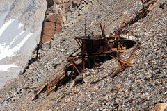 Wooden mine ruins Stock Photography