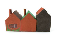Wooden Miniature Houses Royalty Free Stock Photo