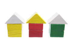Wooden Miniature Houses Royalty Free Stock Images