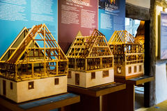 Wooden miniature model of traditional alsacien house Stock Photo