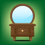 Wooden mirror cabinet Royalty Free Stock Photos