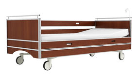 Wooden mobile hospital bed Royalty Free Stock Photos