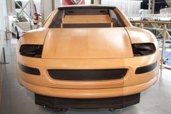 Wooden model car in design phase Stock Images