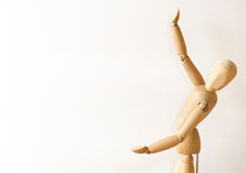 Wooden model gives presentation Stock Image