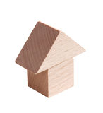 Wooden model of house Stock Image