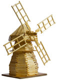 A wooden model of the mill Royalty Free Stock Photos