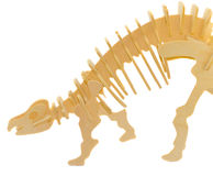 Wooden Model Of A Dinosaur Royalty Free Stock Image
