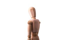 Wooden Model of the person Stock Image