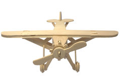Wooden model of the plane Royalty Free Stock Photography