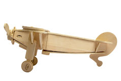 Wooden model of the plane Stock Image