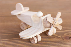 Wooden model of plane Royalty Free Stock Photos