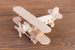 Wooden model of plane Stock Image