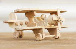 Wooden model of plane Royalty Free Stock Images