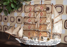 Wooden model of ship Stock Photography