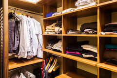 Wooden modern closet Royalty Free Stock Images
