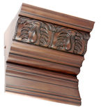 Wooden molding Stock Image