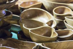 Wooden molds with heart shape. Royalty Free Stock Images
