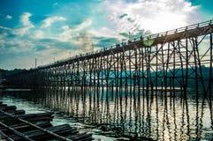Wooden Mon Bridge Stock Photo