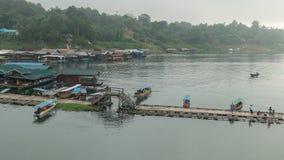 Wooden Mon Bridge @Thailand Royalty Free Stock Photos