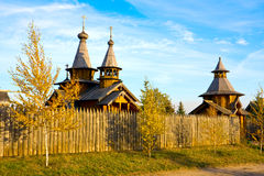 Wooden monastery Stock Photography