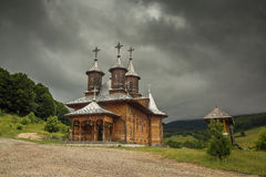 Wooden Monastery Romania Stock Photos