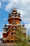 Wooden monastery in Sviyatogorsk, Ukraine Stock Photos
