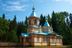 Wooden monastery in Valaam Stock Photo