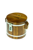 Wooden money box Royalty Free Stock Photo