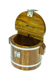 Wooden money box Royalty Free Stock Images