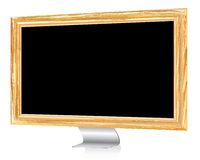 Wooden monitor Royalty Free Stock Images