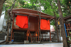 Wooden monk house Stock Photo