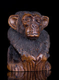 Wooden Monkey Statue stock photography