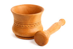 Wooden mortar Stock Photography