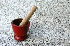 Wooden mortar Royalty Free Stock Photo