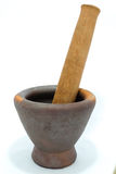 Wooden mortar and pestle Wood Stock Photography
