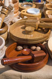 Wooden mortars Royalty Free Stock Image