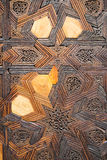 Wooden mosaic. A beautiful piece of art on a moroccan mosque in Fes Stock Images