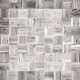 Wooden mosaic made of old planks Royalty Free Stock Images