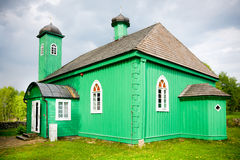 Wooden mosque in Kruszyniany royalty free stock photography