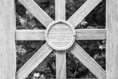 Wooden Motif in Fence Royalty Free Stock Photography