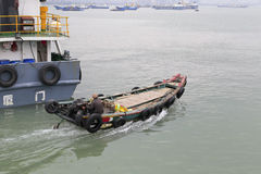 Free Wooden Motor Boat Sailed Out Of Songgu Ferry Terminal Stock Photos - 62140863